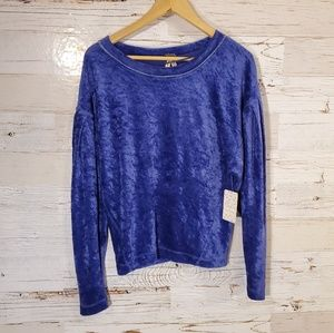 NWT Free People purple knight sweatshirt